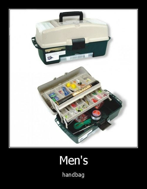 fishing,funny,handbag,tackle box