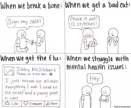 mental health mental illness pain web comics - 8192865280