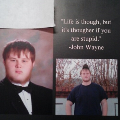 wtf yearbook idiots quote funny - 8193041664
