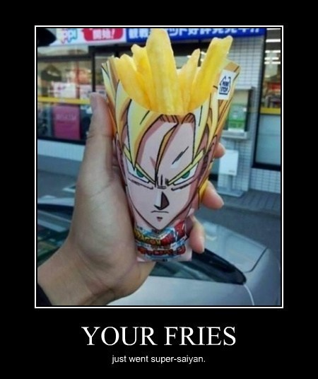 french fries dragonball z Japan funny - 8193133824