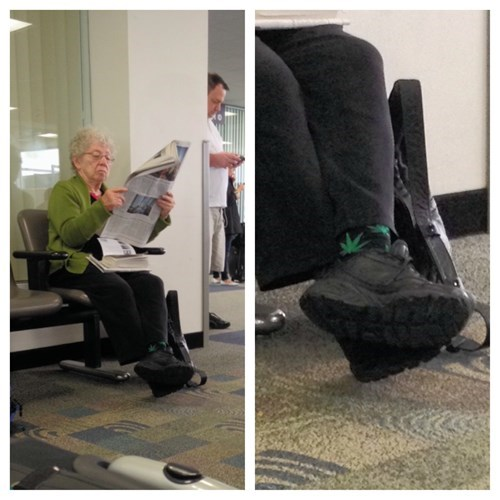 drugs socks old lady weed funny - 8193151232