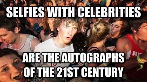 selfie,celeb,autographs,sudden clarity clarence