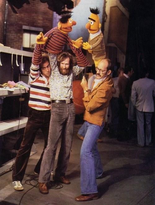 behind the scenes frank oz Sesame Street jim henson bert and ernie - 8193238528