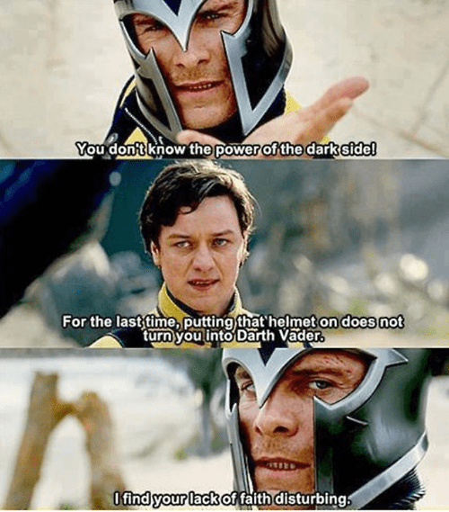 Magneto x men professor x darth vader