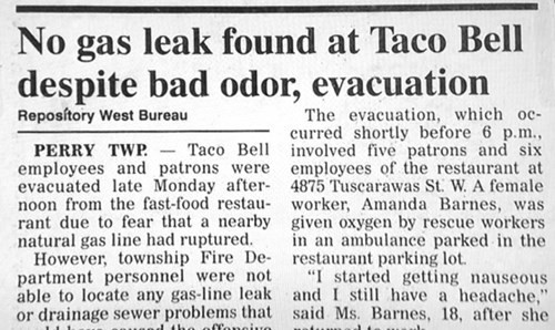 taco bell farts fast food newspaper - 8193409024