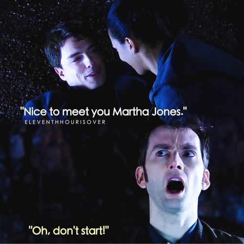 """Album cover - """"Nice to meet you Martha Jones."""" ELEVENTHHOURISOVER """"Oh, don't start!"""""""