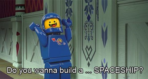 lego movie,spaceship,frozen