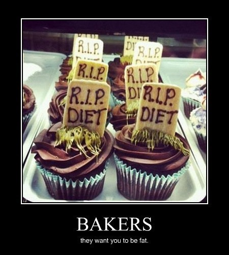 diet cupcakes bakers funny - 8194539776