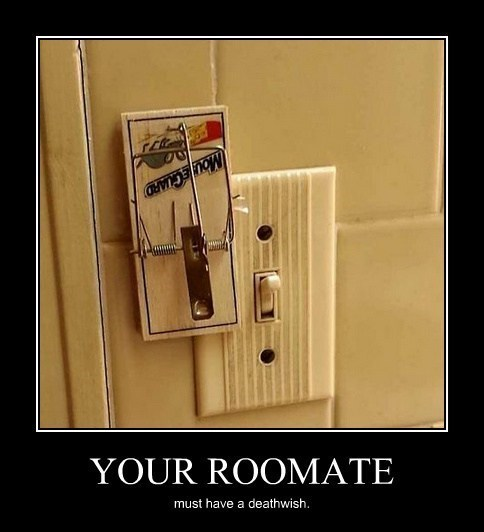 roommate light switch prank funny