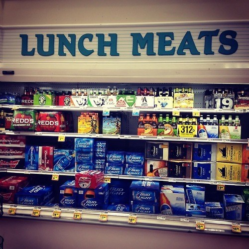 beer sign lunch meat wtf funny grocery store - 8194598912