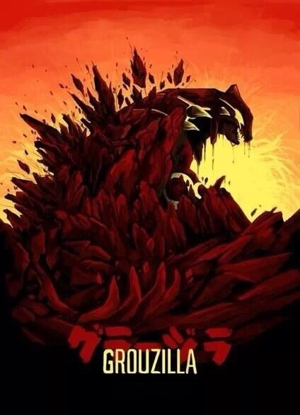 Fan Art godzilla groudon