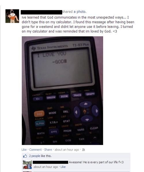 god,calculators,miracles