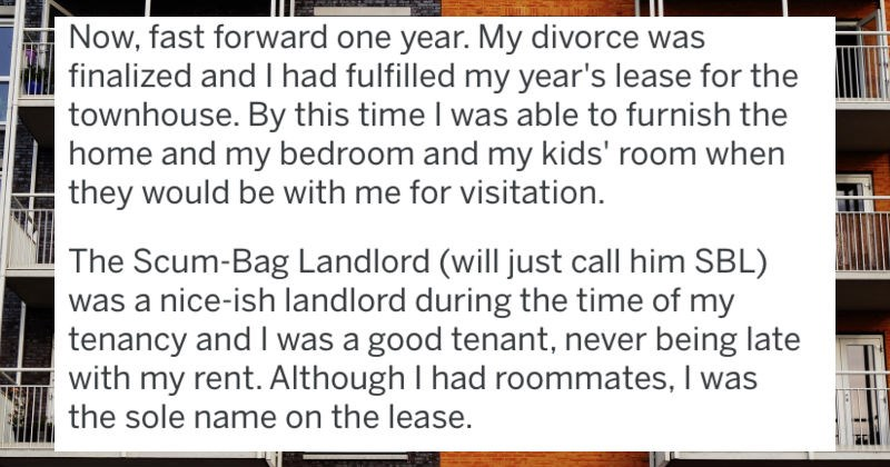 bully landlord gets revenged