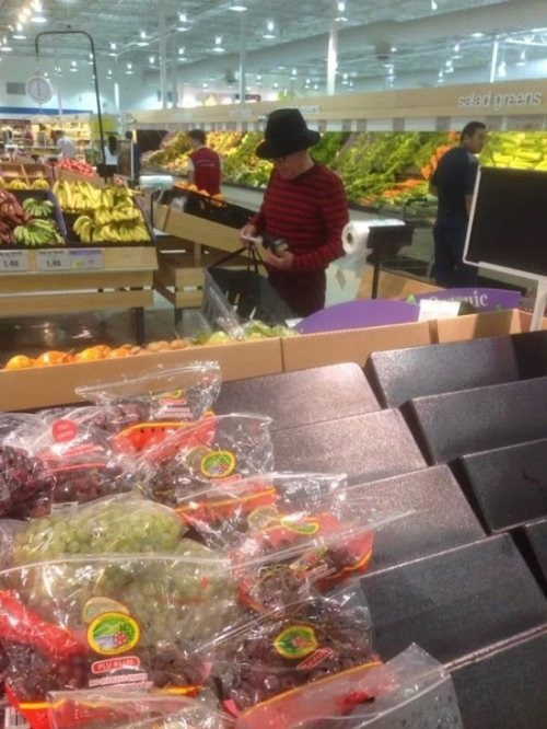 freddy krueger,poorly dressed,grocery store,g rated