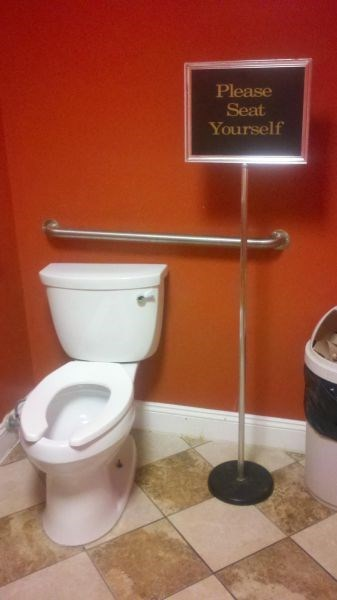 monday thru friday sign work bathroom toilet - 8195181568