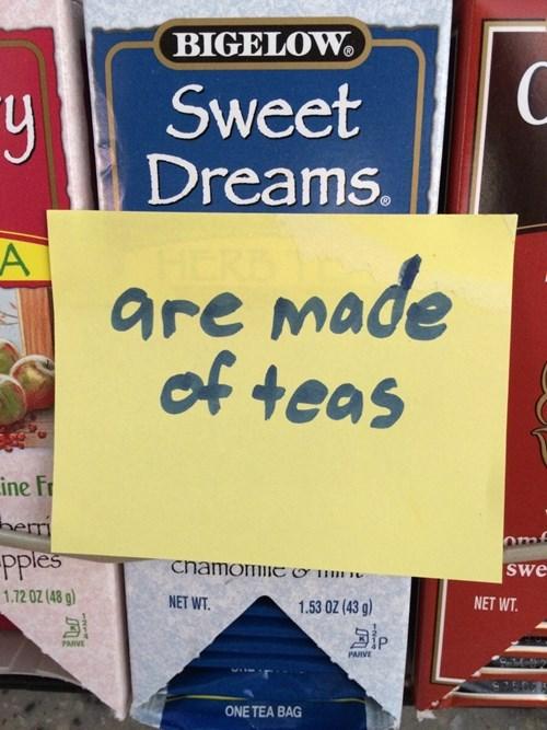 monday thru friday post it work puns sweet dreams Office tea