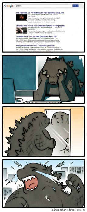 fat,godzilla,shame,web comics