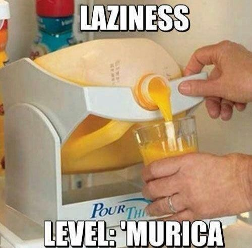 orange juice,infomercials,laziness