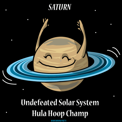 Saturn funny hula hoop space - 8195958784