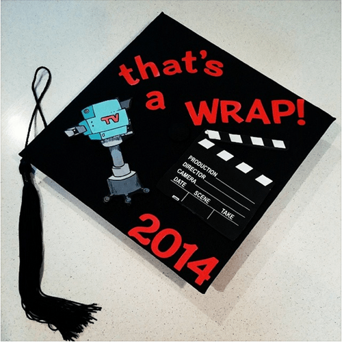 graduation cap and gown film school funny - 8195991808
