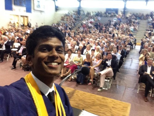 selfie graduation speech high school