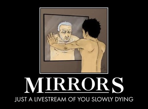 mirrors,livestream,aging,funny