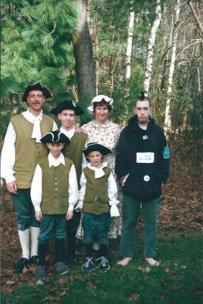 poorly dressed family photo mohawk colonial g rated - 8196022528