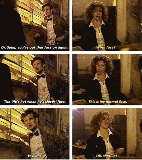 flirting,11th Doctor,River Song