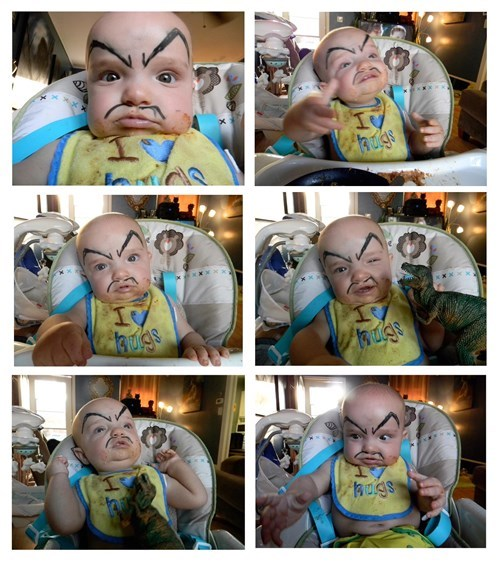 baby,eyebrows,drawing,parenting