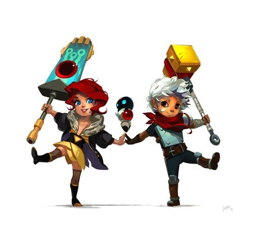 bastion Fan Art red the kid transistor