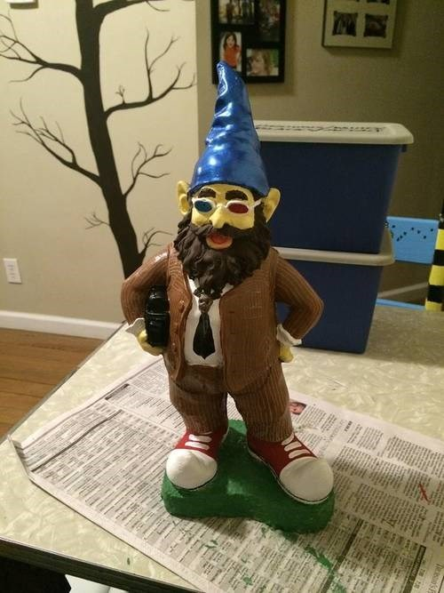 10th doctor,lawn gnome