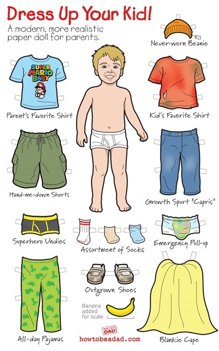 clothes kids parenting paper doll