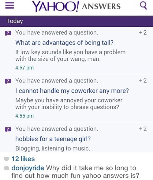 trolling,Yahoo Answer Fails