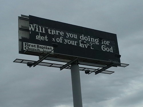 religion,sign,go home you're drunk