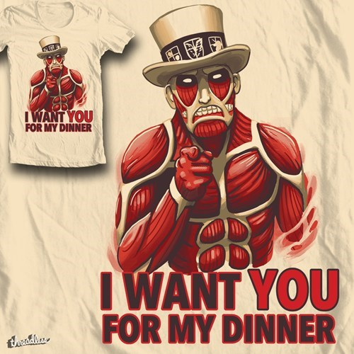 anime T.Shirt for sale attack on titan - 8196828160