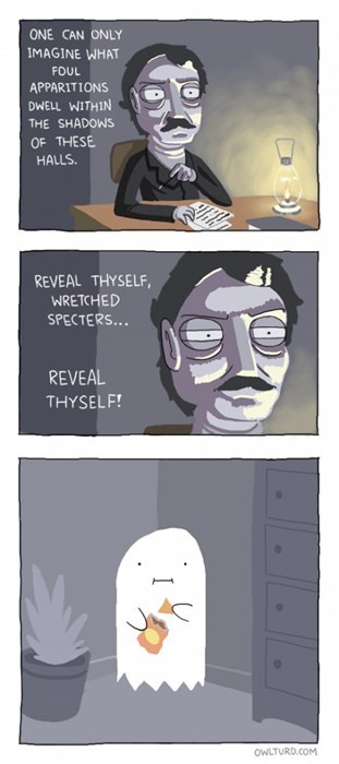 chips,edgar allen poe,ghosts,web comics
