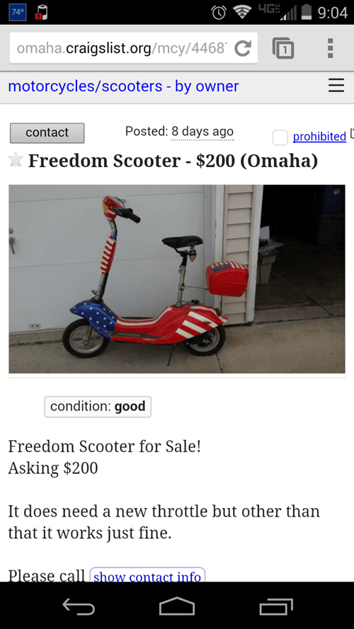 craigslist scooters - 8196951808