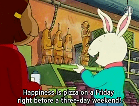 arthur,memorial day,pizza,three day weekend