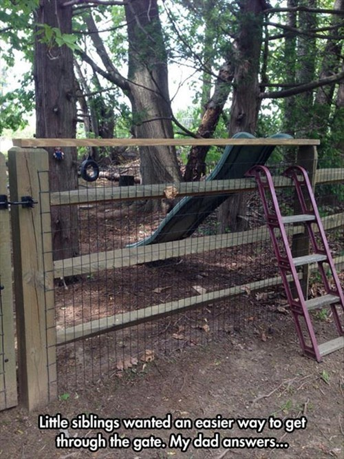 slide,kids,fence,parenting,gate