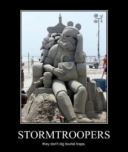 awesome sand castle funny star wars stormtrooper