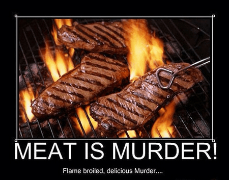murder funny meat steak