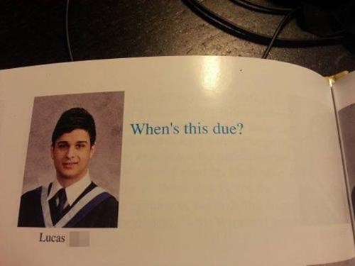 quote lazy funny yearbook g rated School of FAIL - 8197157888