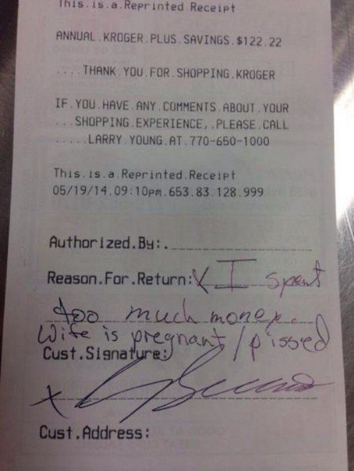 customer service monday thru friday receipt return reason - 8197193984