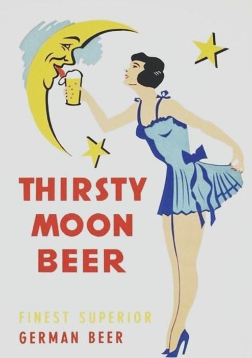 beer ads Germany funny vintage - 8197194496