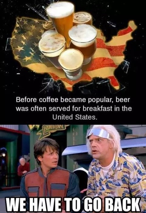 beer back to the future breakfast funny time travel after 12 g rated