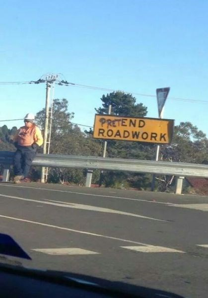 monday thru friday,sign,work,road work,g rated