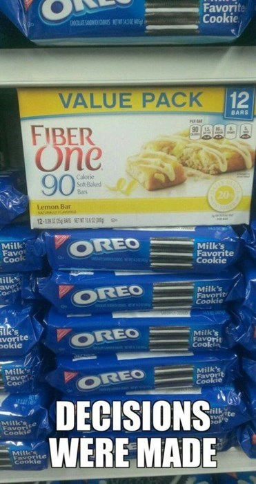 groceries Oreos fiber one food