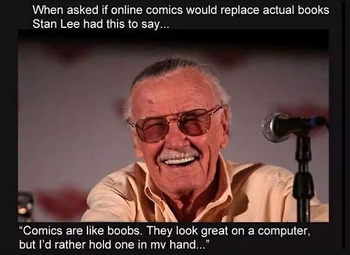 bewbs,comic books,stan lee