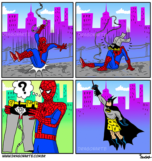 batman,Spider-Man,web comics