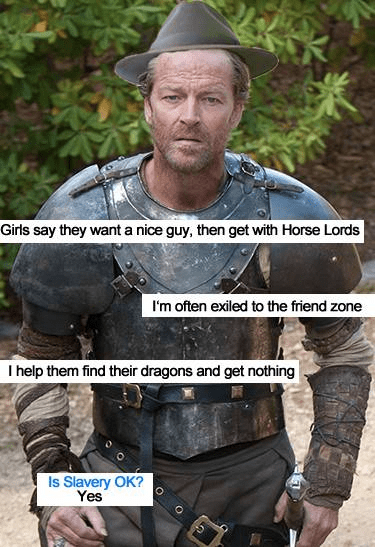 dating friendzone Game of Thrones jorah mormont okcupid - 8198267392